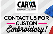 CarVa Signs - Custom Embroidered Apparel, Headwear, Bags and Accessories