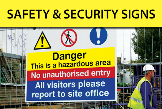 Custom Safety and Security Signs - Emergency, ANSI, Workplace, Protection, Electrical, Chemical, Fire Signs and Panels